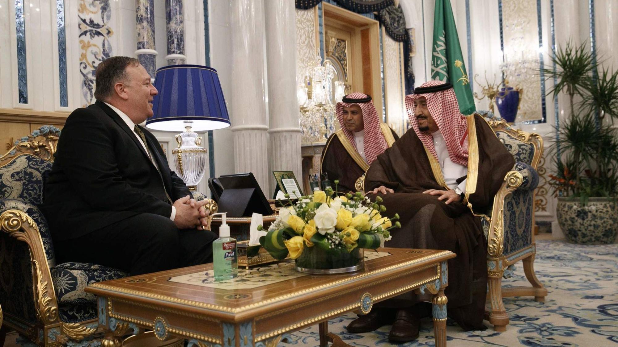Pompeo in Saudi Arabia; Iran threatens more U.S. drone attacks