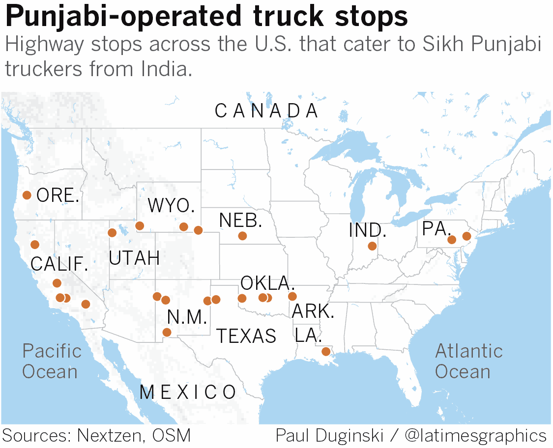 Punjabi-operated truck stops