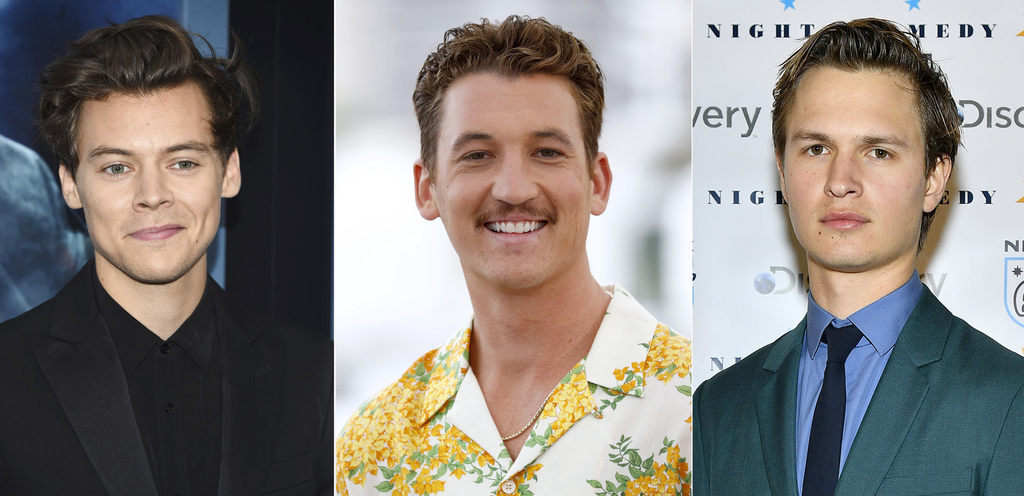 A little more action: Harry Styles, Miles Teller and Ansel Elgort in contention to portray Elvis Presley