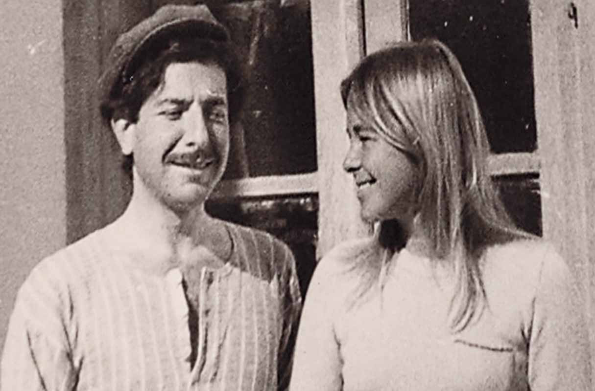A Photo of Leonard Cohen and Marianne Ihlen from the film