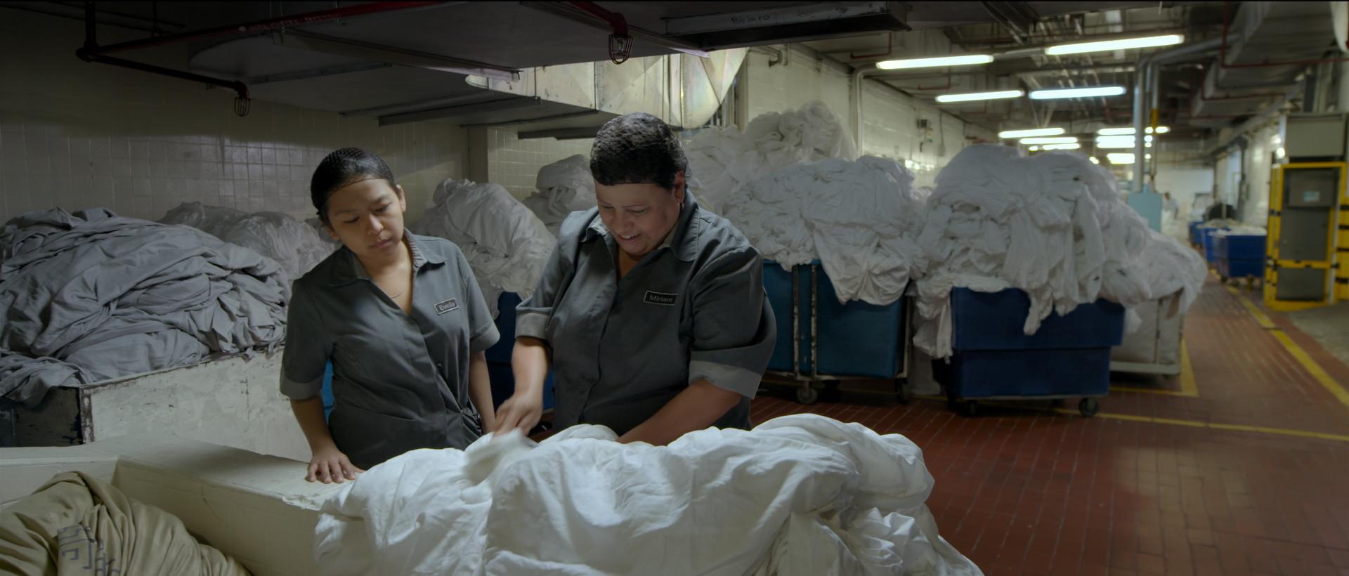 Gabriela Cartol, left, and Teresa Sanchez in a scene from