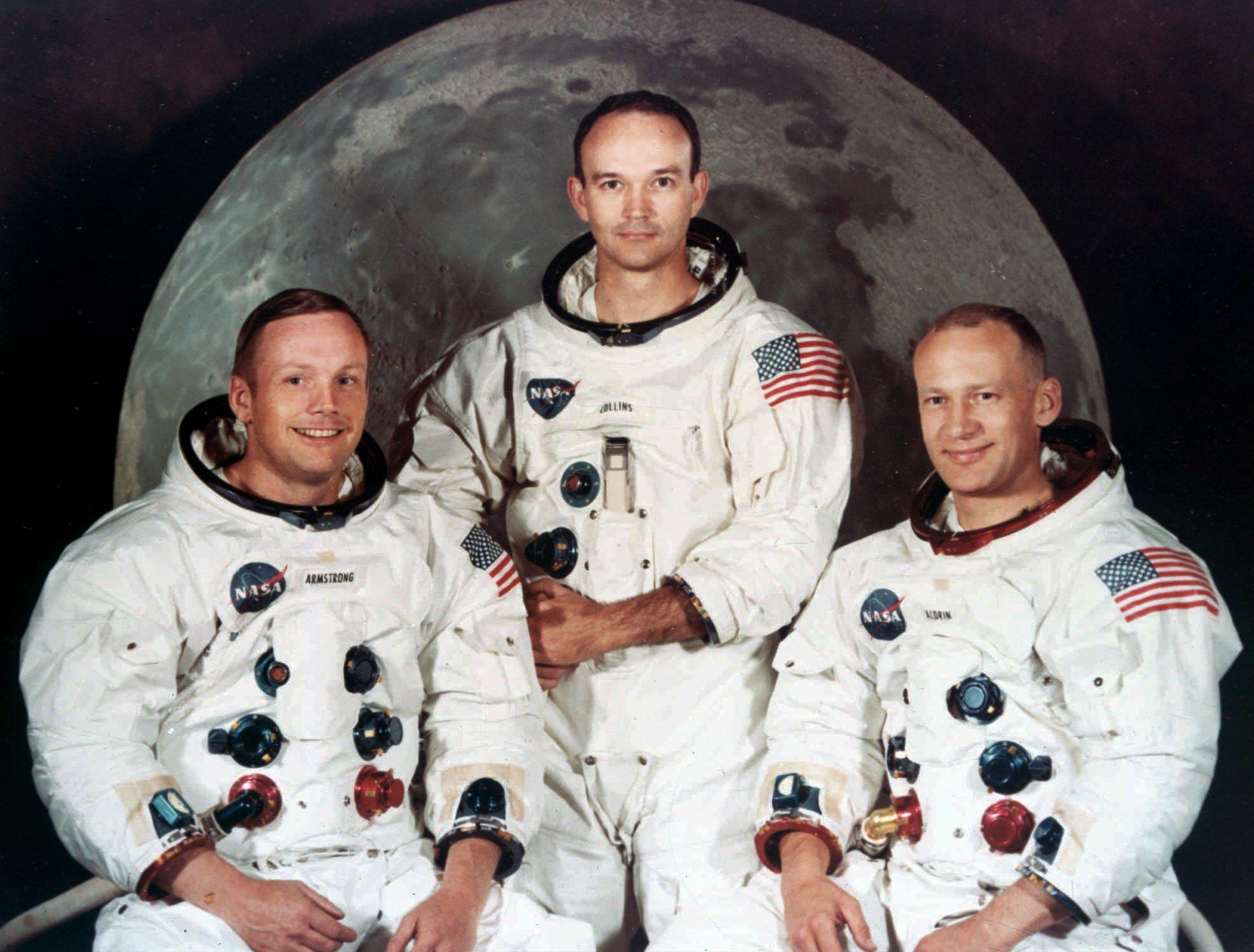 Neil Armstrong; Michael Collins; Buzz Aldrin