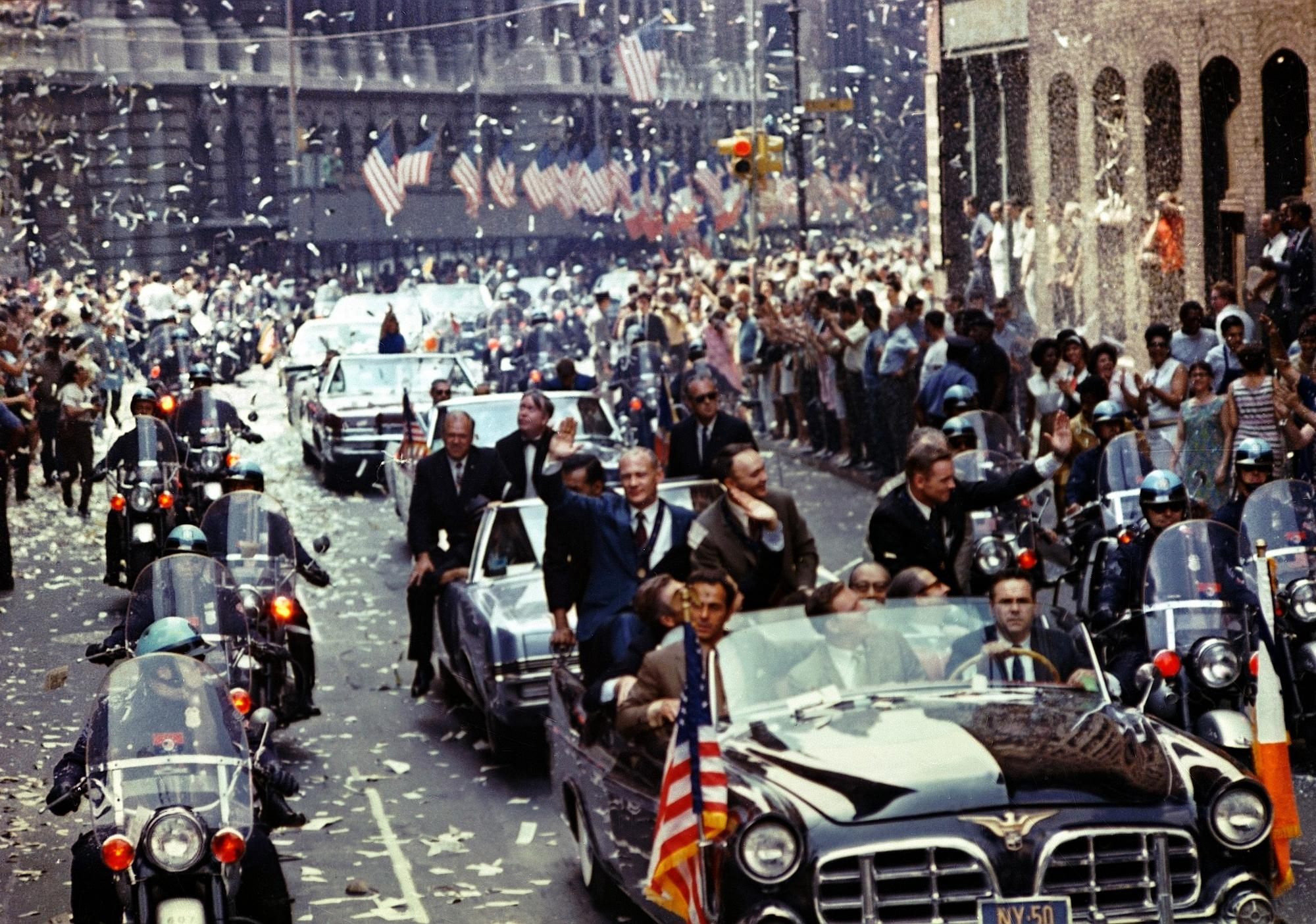 New York City welcomes Apollo 11 teammates