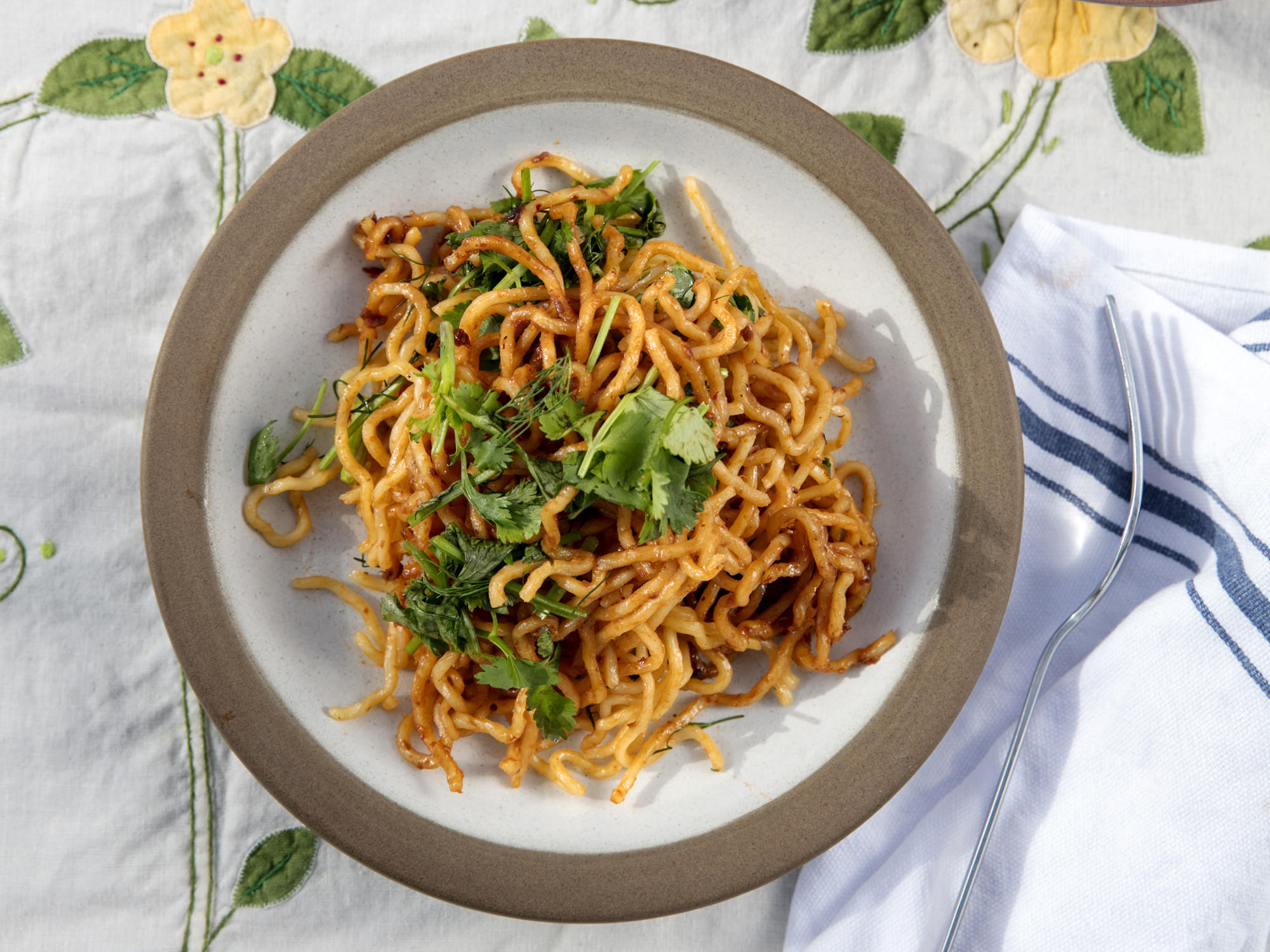Spicy Shrimp Paste Noodles