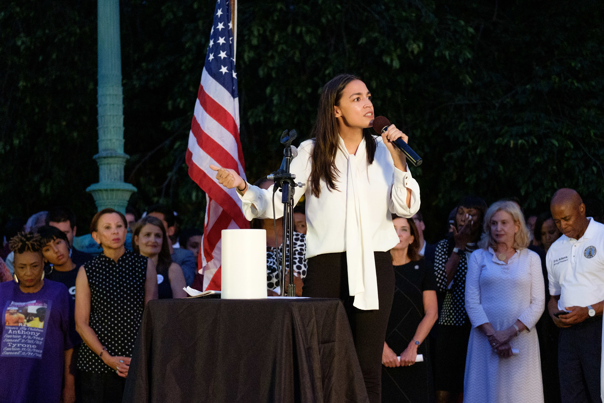 White supremacy an 'international terrorist problem,' Ocasio-Cortez says at vigil for Dayton, El Paso victims