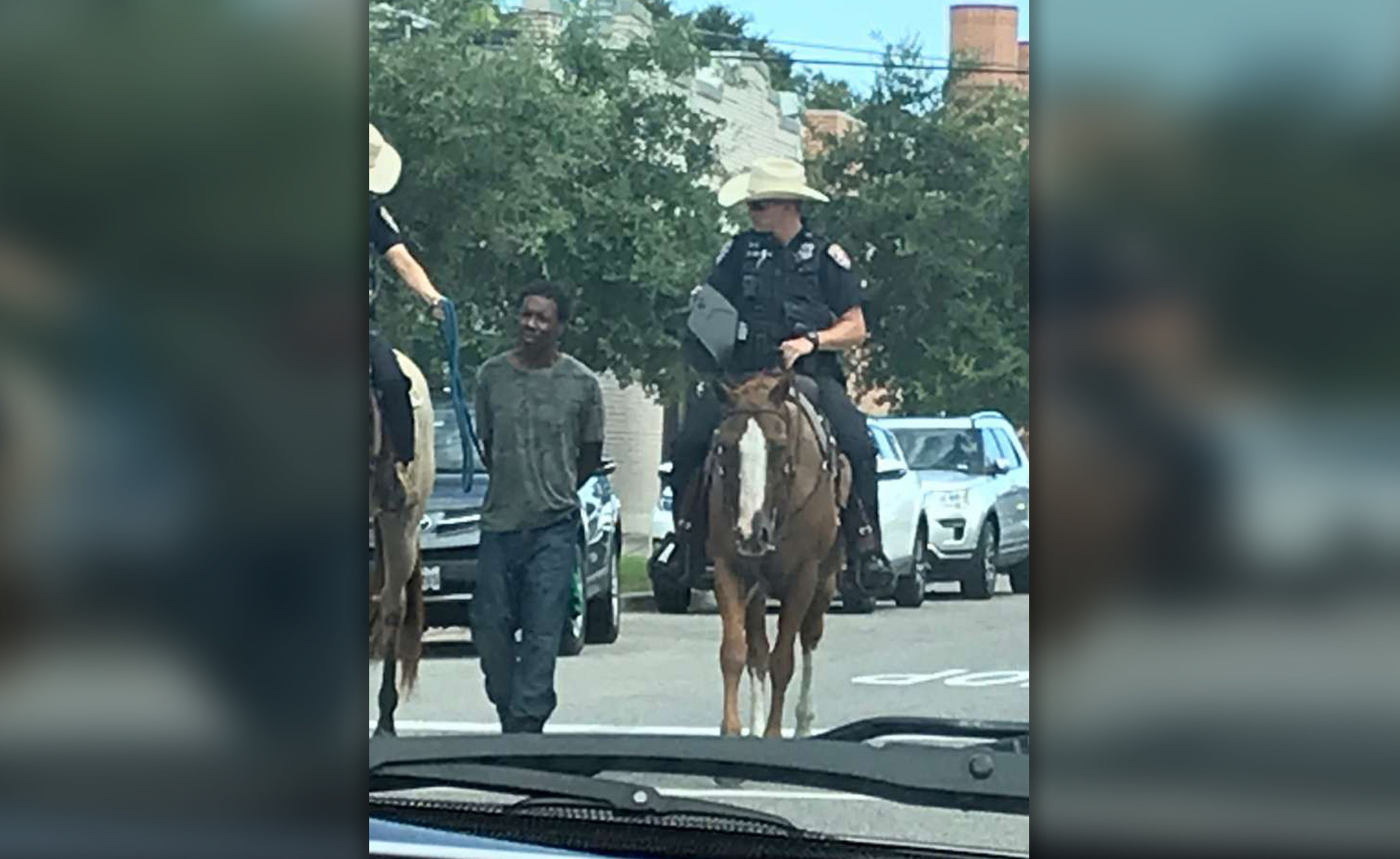 No criminal investigation for officers who rode horseback while walking handcuffed black man through Galveston