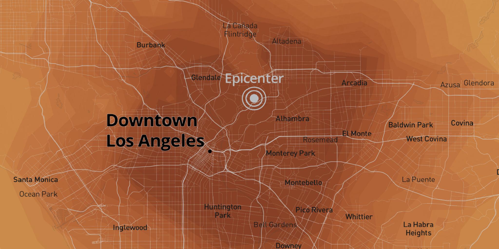 What would a powerful earthquake feel like where you live?