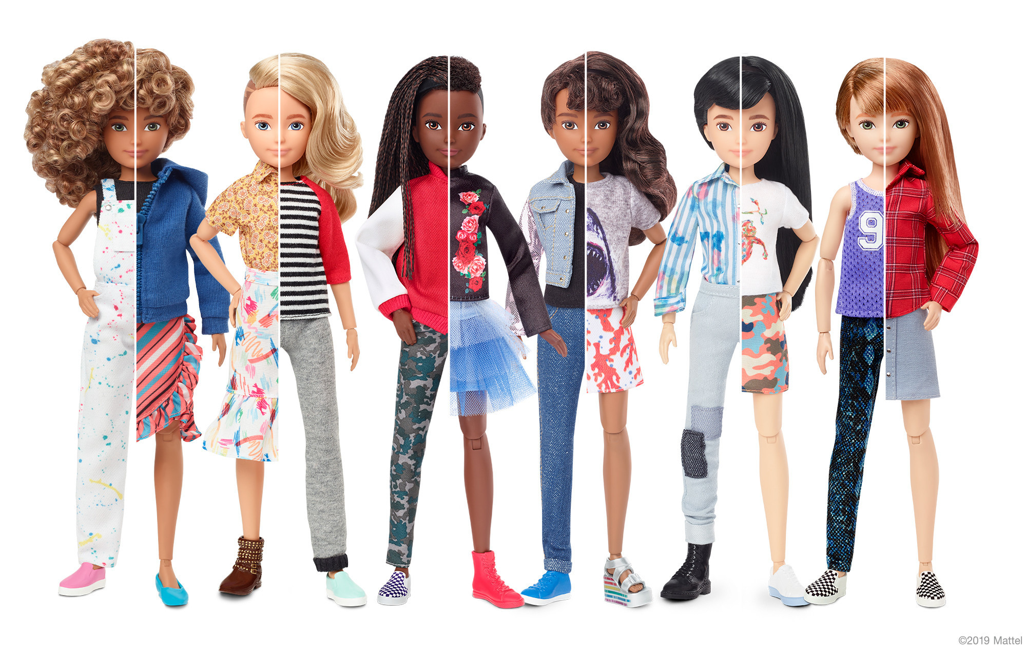 Mattel's new gender-neutral doll line shows that 'all kids can benefit from doll play'