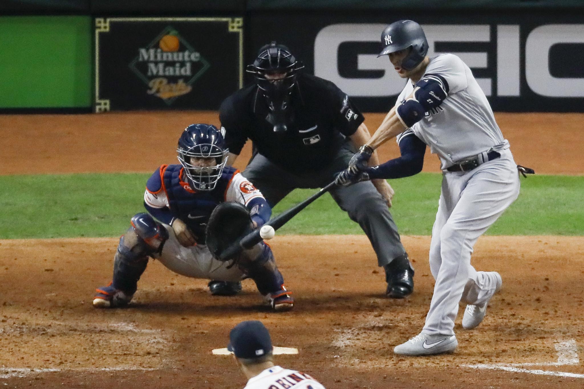 Giancarlo Stanton hits the anti-gravity treadmill as Yankee slugger continues to rehab calf strain