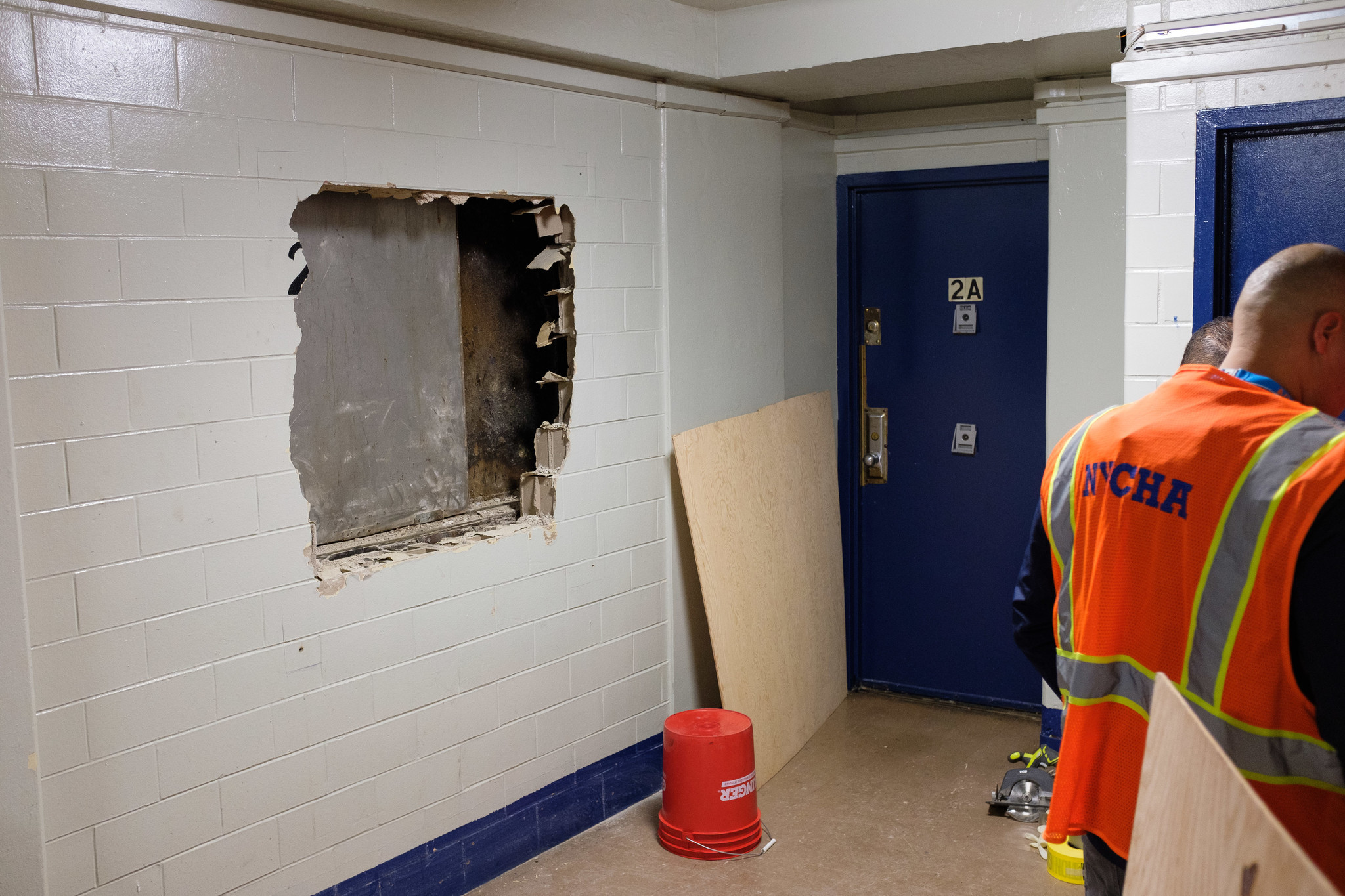 Firefighters cut wall to rescue man stuck in East Harlem NYCHA elevator