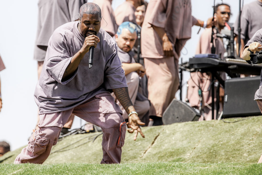 Kanye West appears on 'Jimmy Kimmel Live' ahead of new album's release