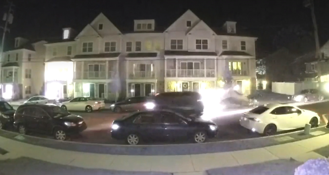 SEE IT: Doorbell camera records alleged drunk driver hitting several parked cars in police chase