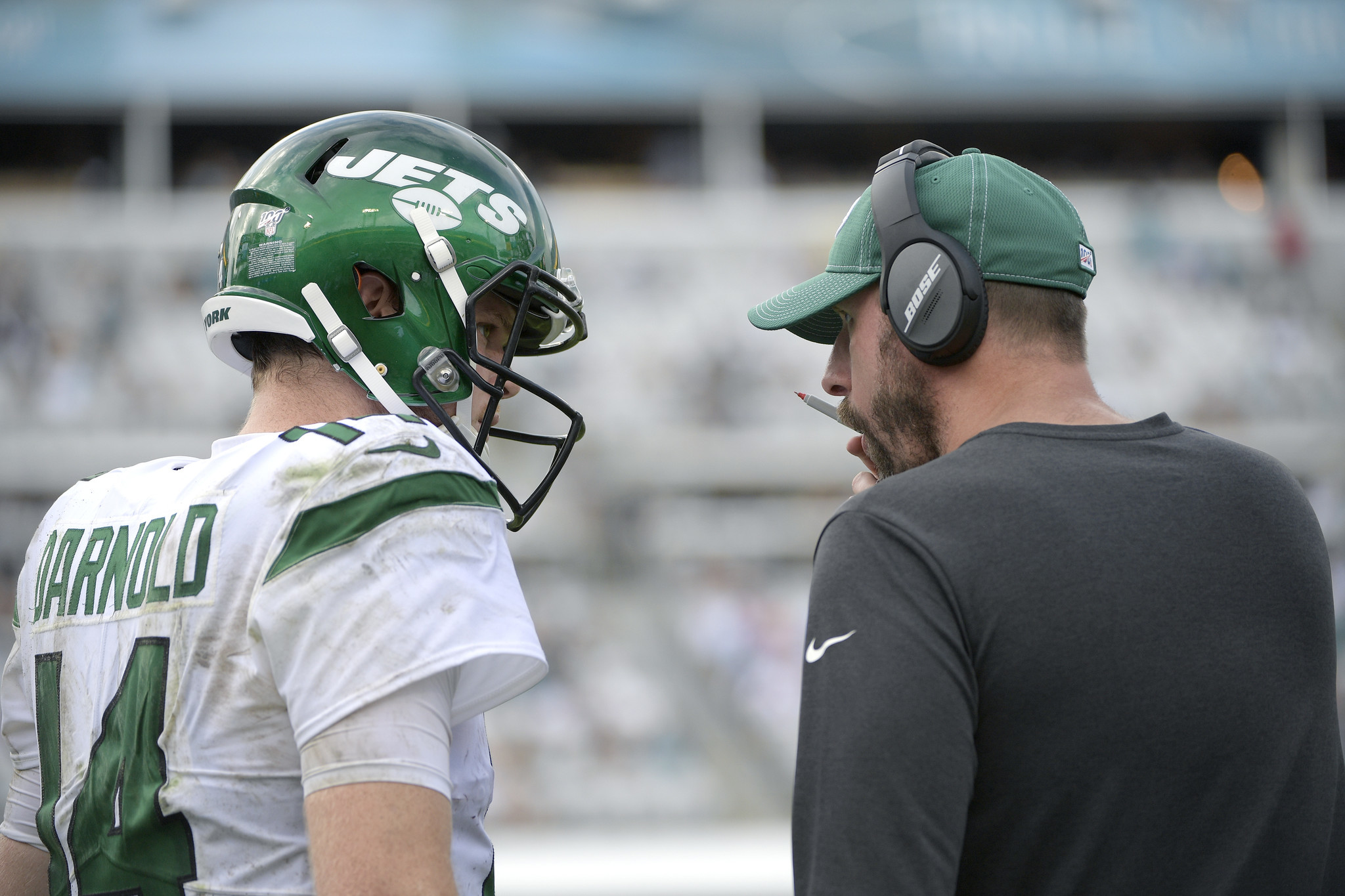 Adam Gase says he was 'bitching' to Sam Darnold about a screw-up by another Jets player during sideline spat