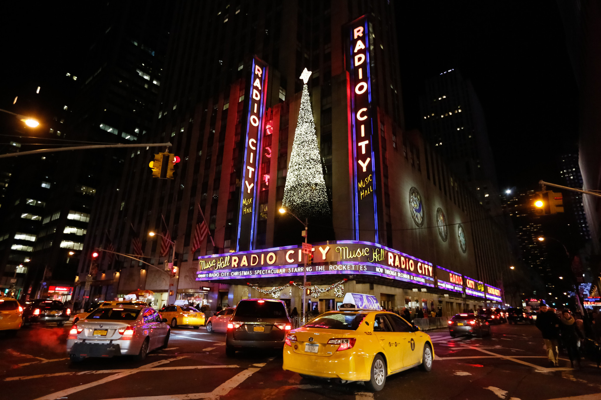 GRIDLOCK SAM: Pedestrians, car traffic and Rockettes at Radio City