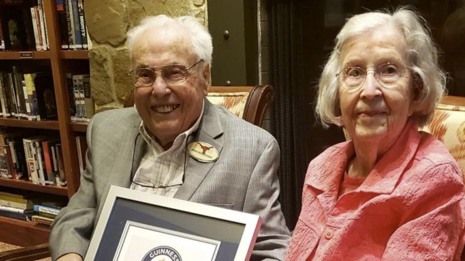 Texas husband and wife, at 106 and 105 years young, officially world's oldest couple