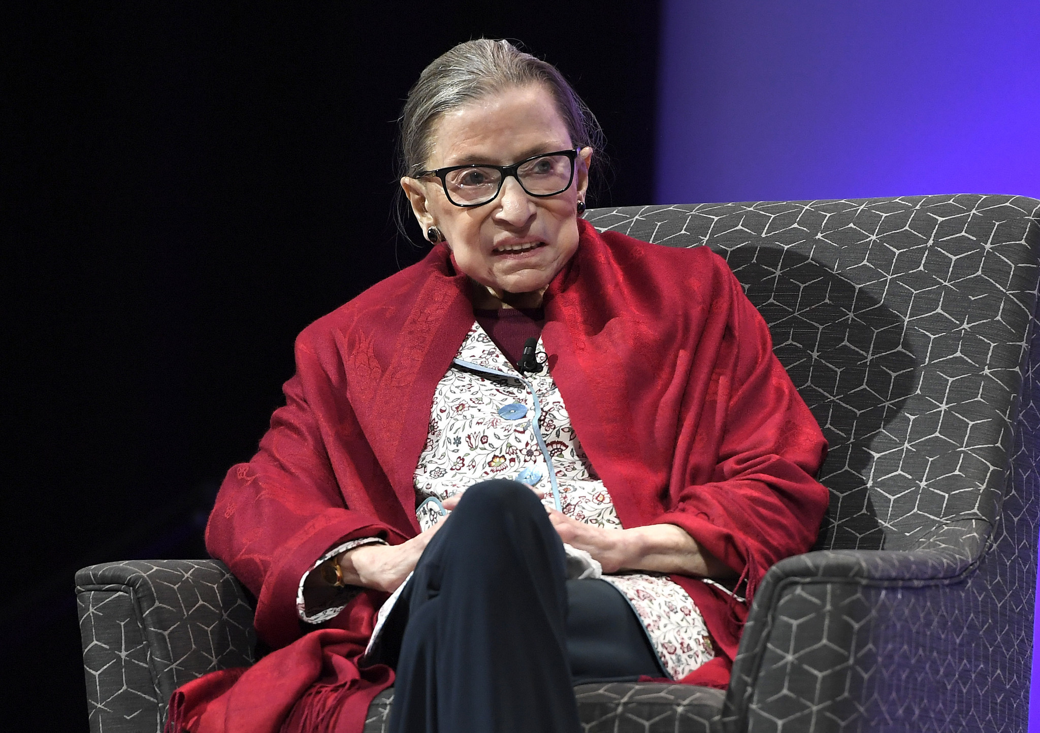 Justice Ginsburg misses court due to illness; her first absence in months