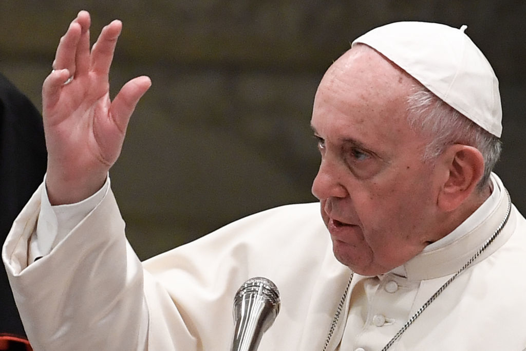 Pope Francis bemoans today's 'culture of hate' reminiscent of Adolf Hitler