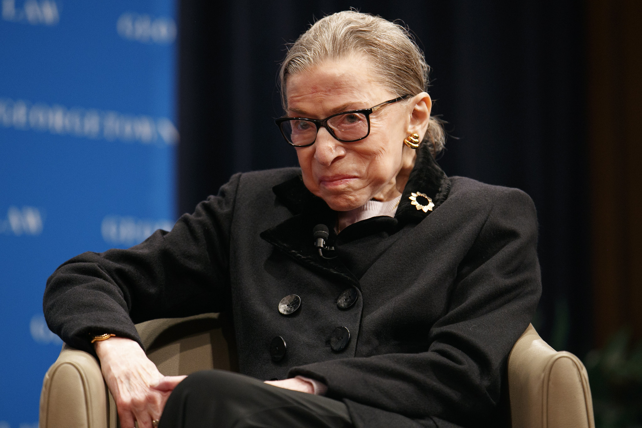 Ruth Bader Ginsburg back in hospital with flu-like symptoms