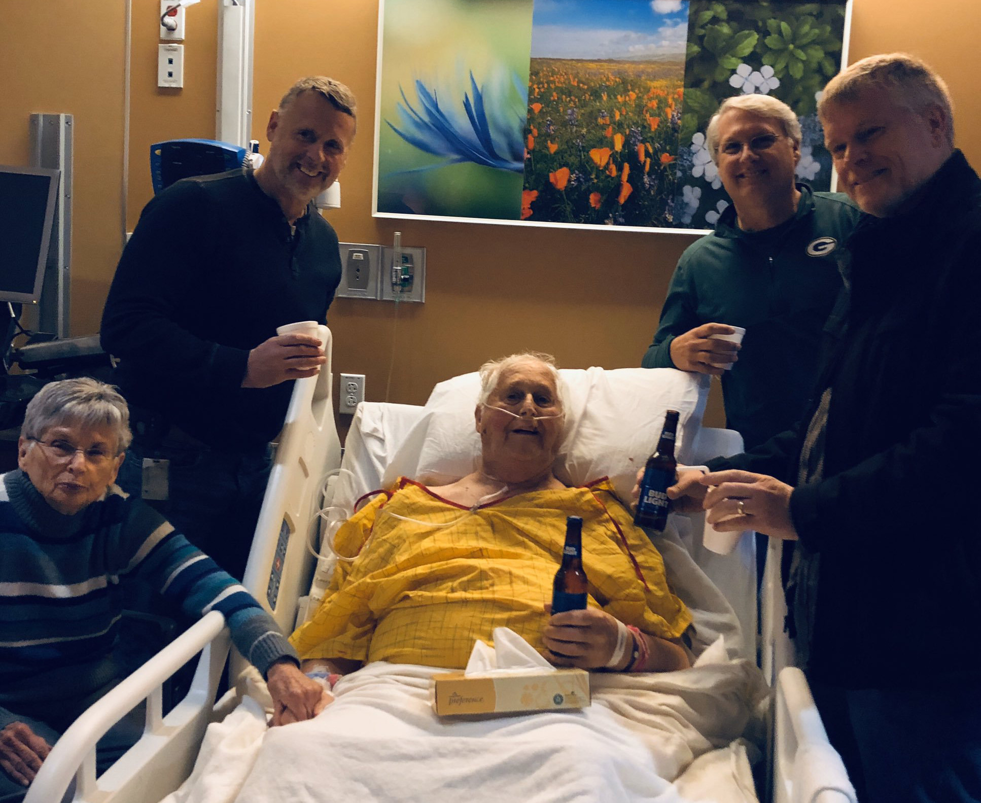 Man's last wish: Having a beer with his sons