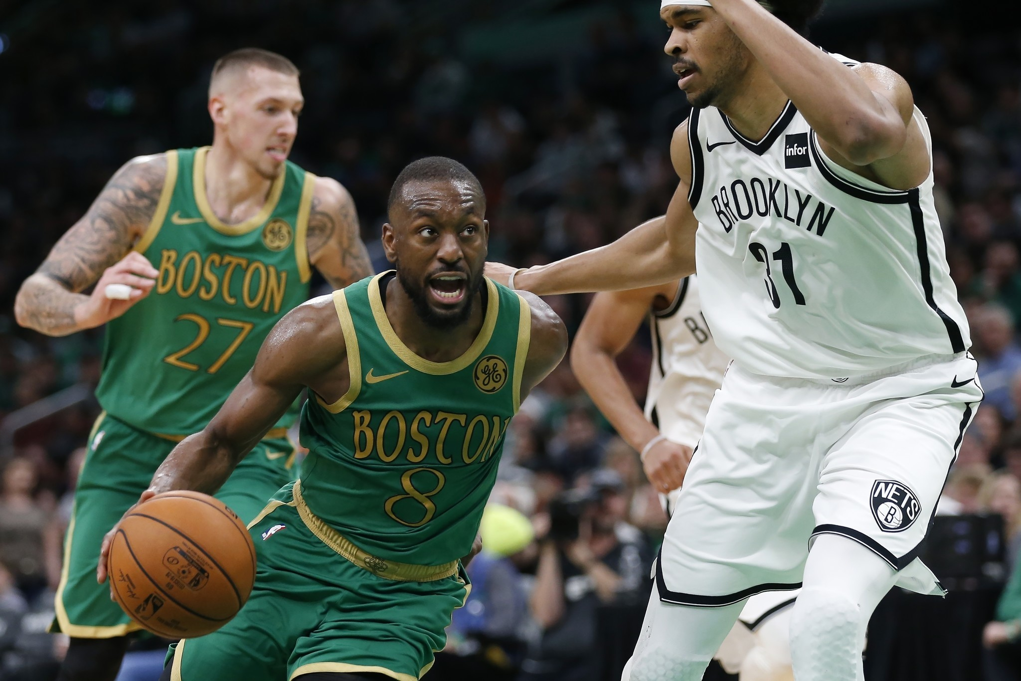 Kemba Walker overwhelms Nets with 39 points as Celtics fans chant 'Kyrie sucks!'