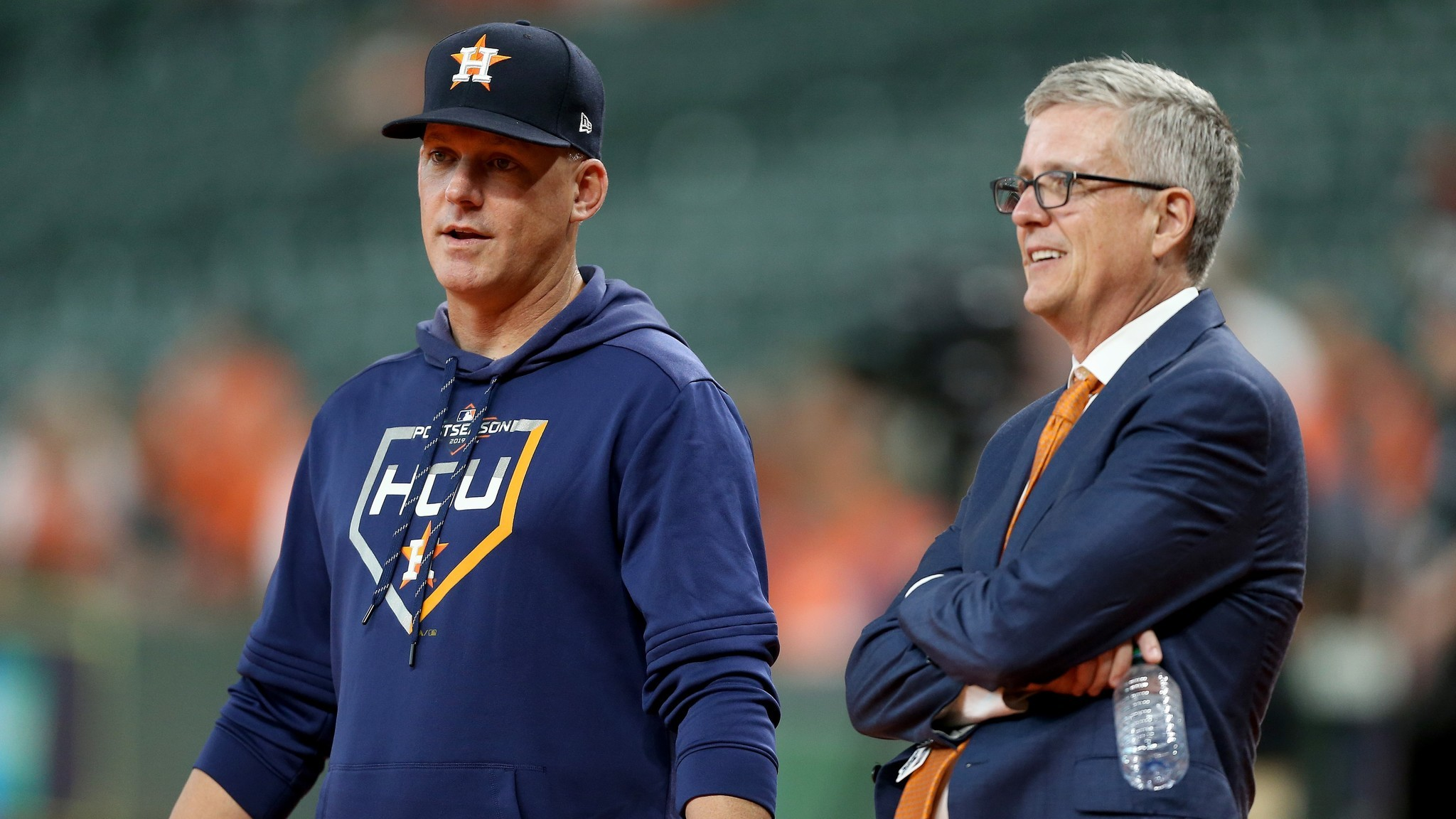Manager A.J. Hinch, GM Jeff Luhnow get one-year suspensions for Astros' sign-stealing; Carlos Beltran not punished