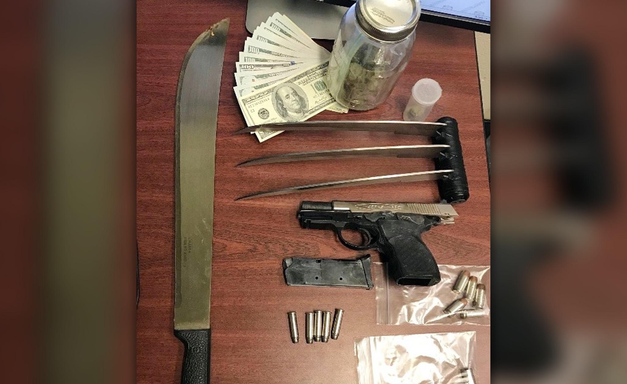 Three blade knife that looks like superhero Wolverine's claw found inside a Bronx home