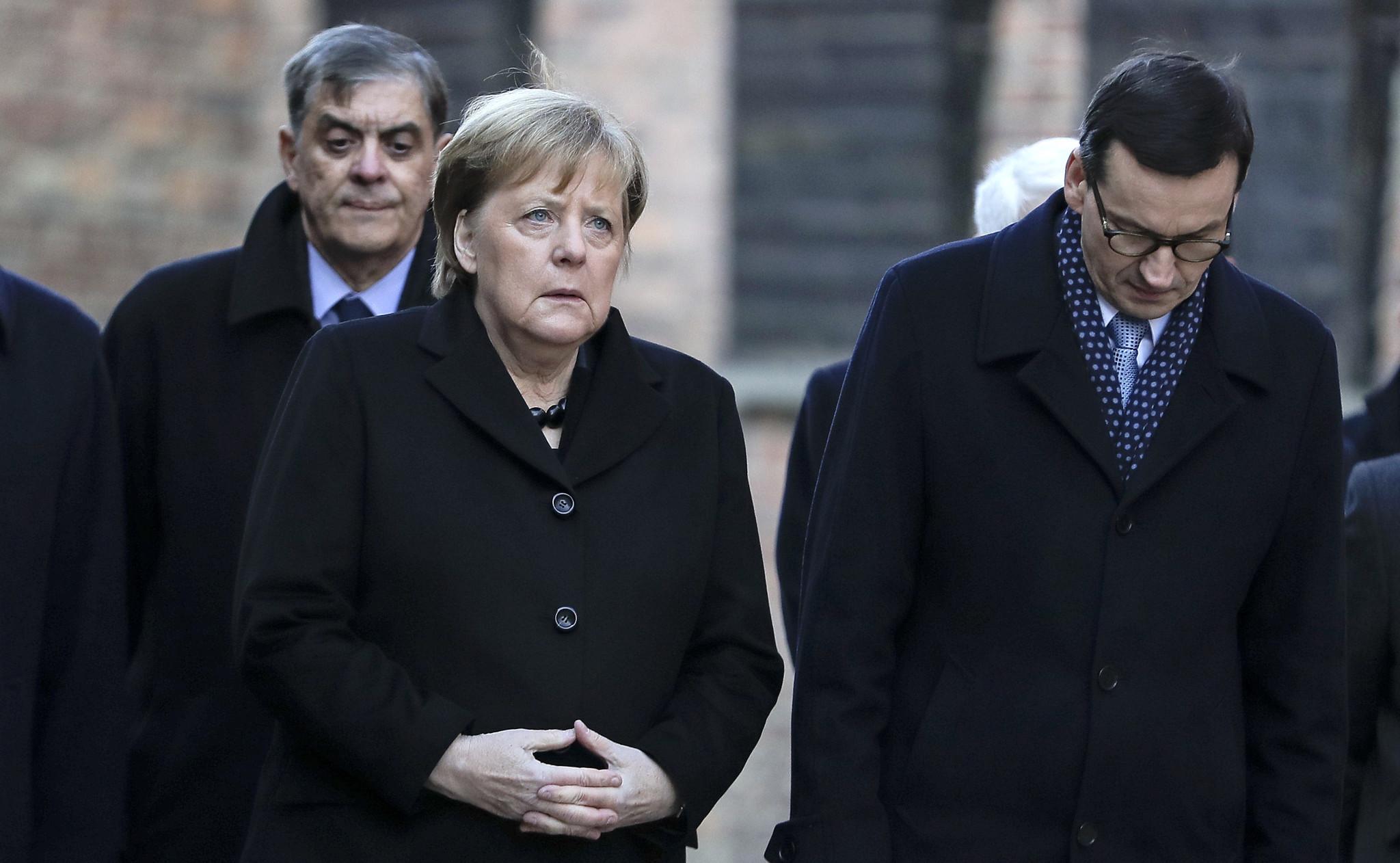 German Chancellor Angela Merkel feels 'deep shame' during first Auschwitz visit