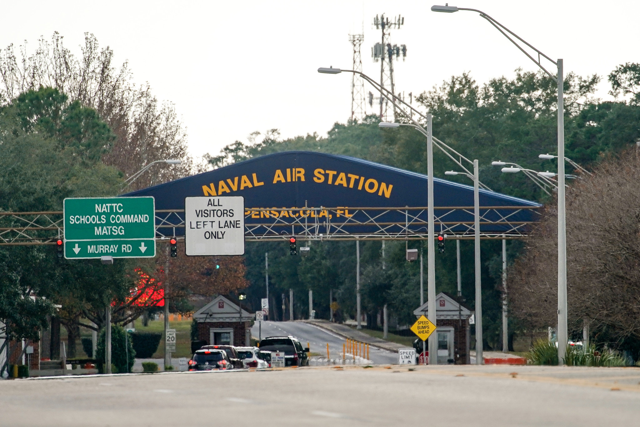 Saudi suspect filmed scene as airman opened fire at Pensacola Navy base in sign of wider terror plot