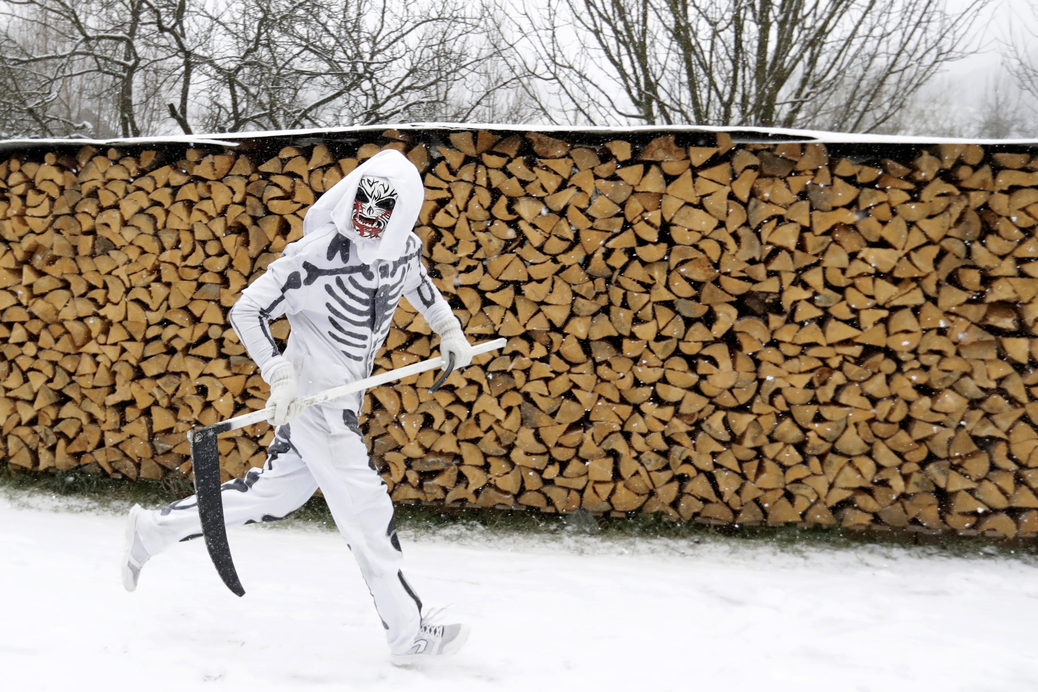 Grim reapers, devils join St. Nick in traditional Czech romp