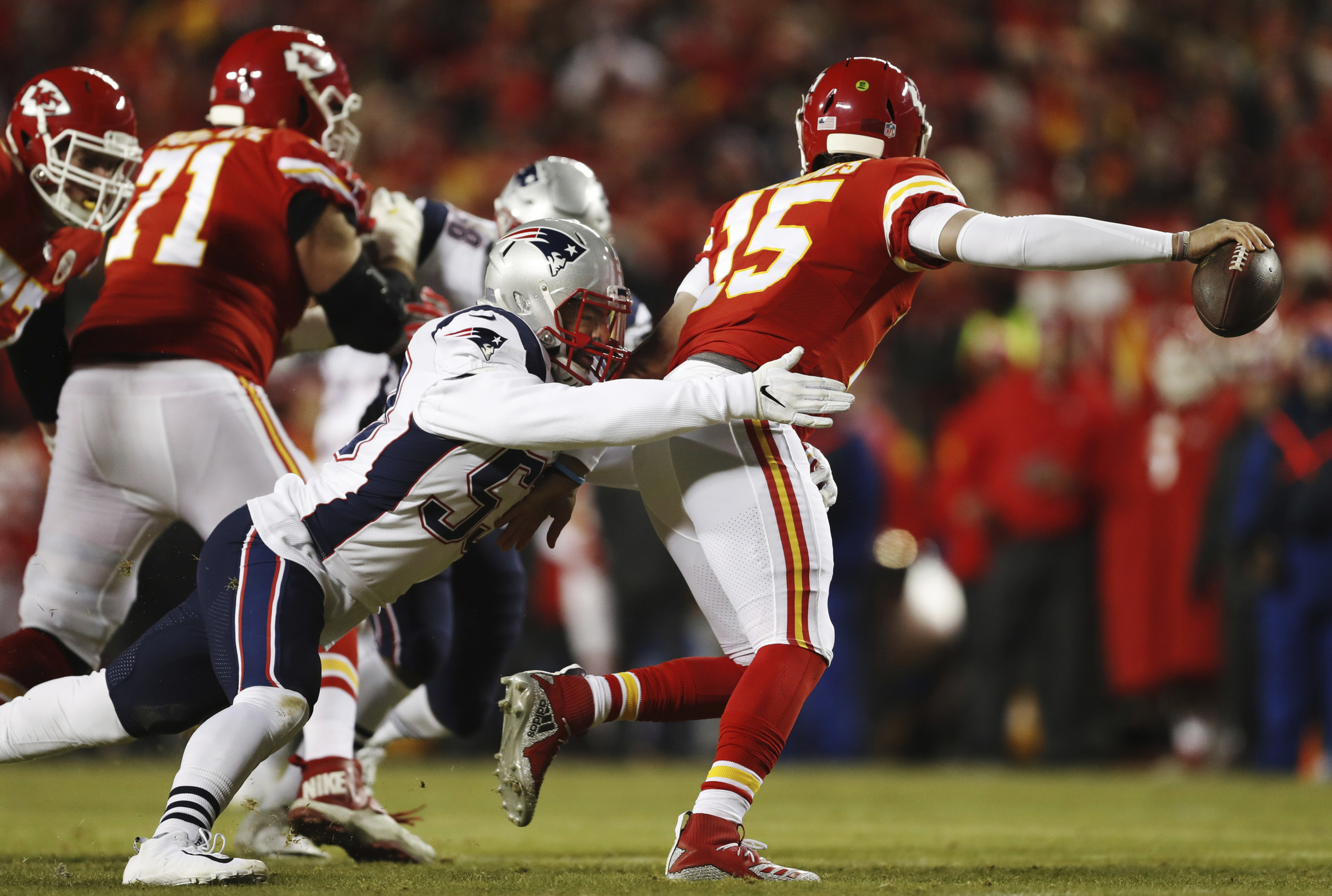 Chiefs accidentally send gear for Patriots game to Newark