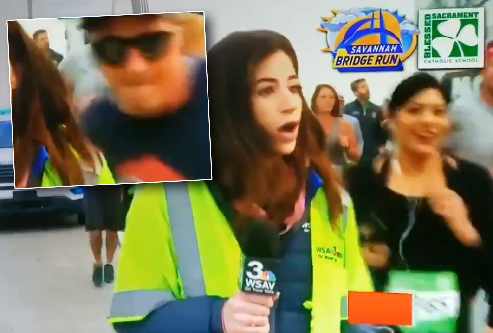 Man who groped reporter on live TV during road race says he's sorry