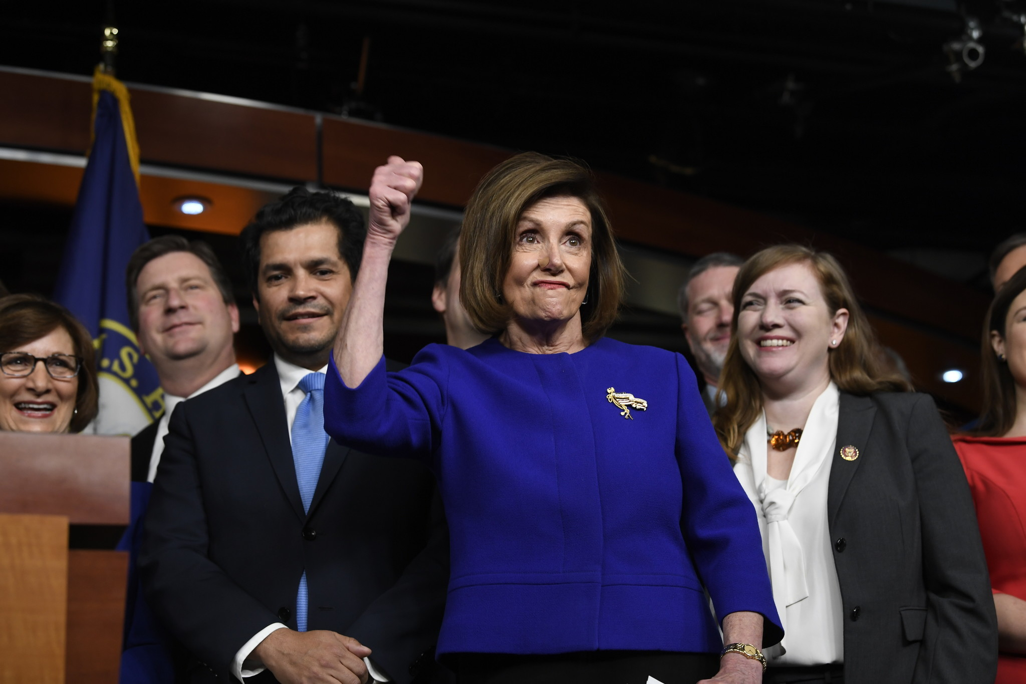 Trump and Democrats jockey for credit over 'new NAFTA' trade deal as impeachment drama rages