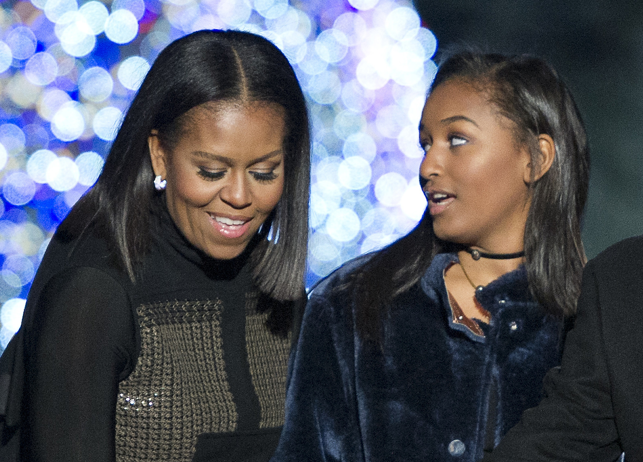 Michelle Obama got weepy dropping off her youngest daughter, Sasha, at college