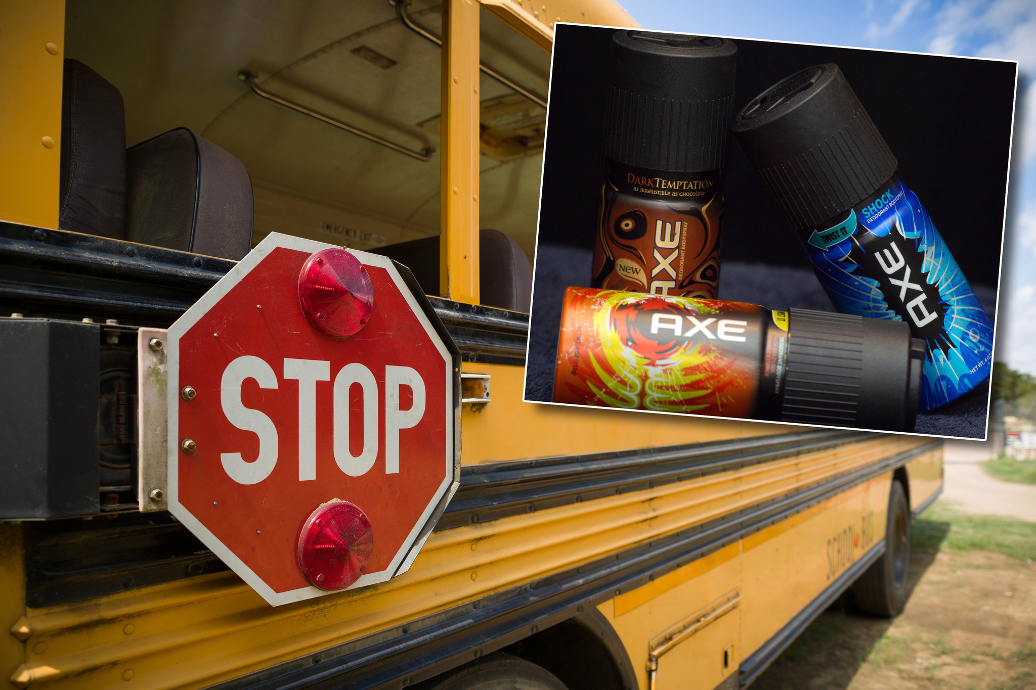 School bus evacuated due to student's copious use of Axe body spray