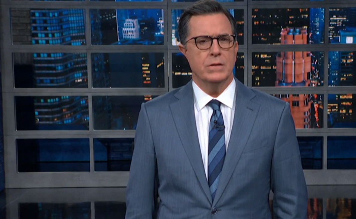 SEE IT: Stephen Colbert tells Trump 'Go Fjuk yourself!'