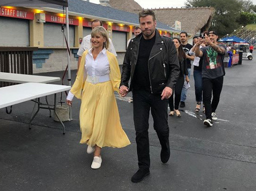 John Travolta and Olivia Newton-John reunite as Danny and Sandy for first time since 'Grease'