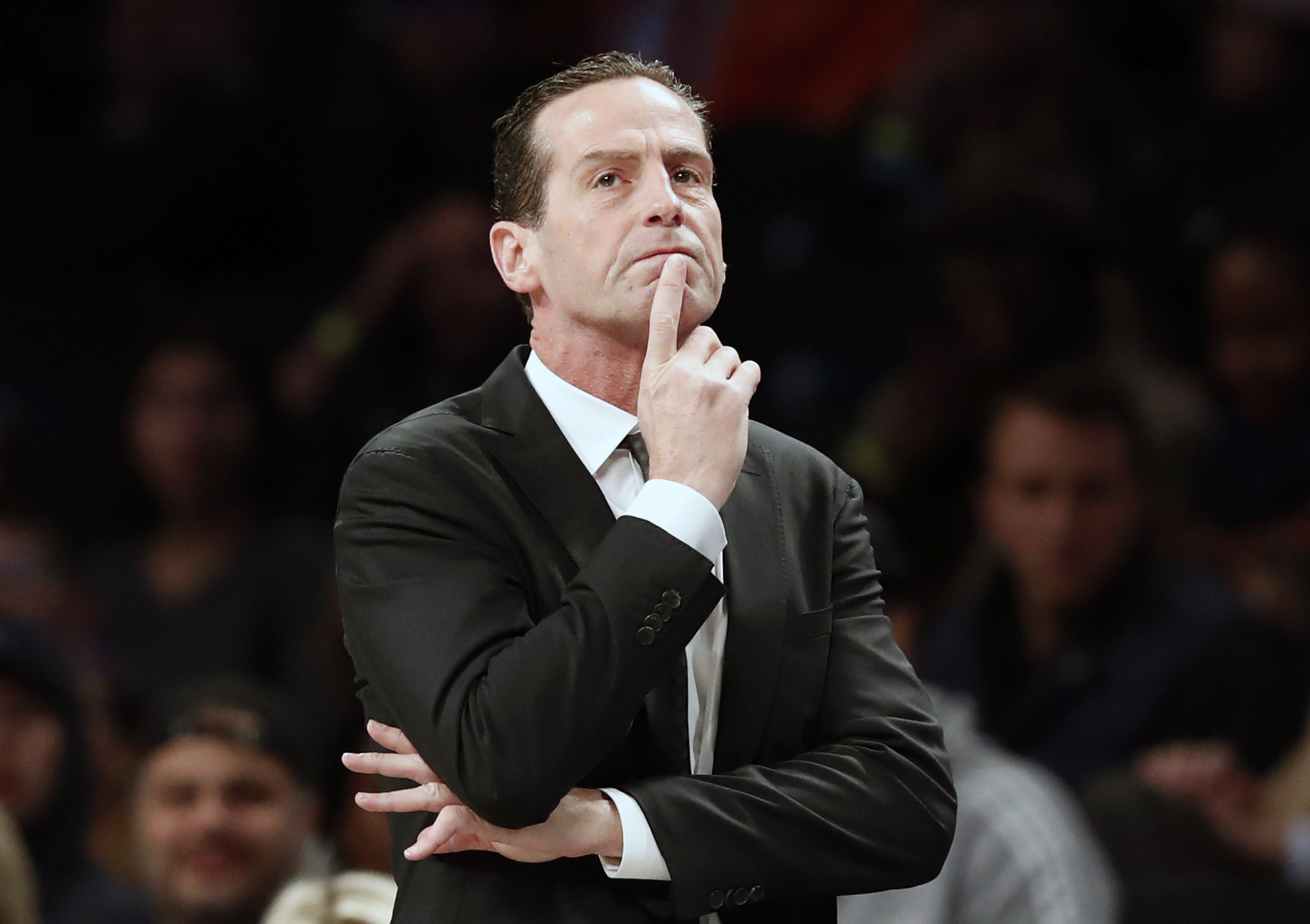 Kenny Atkinson and the Nets are still getting their story straight with Kyrie Irving's shoulder injury
