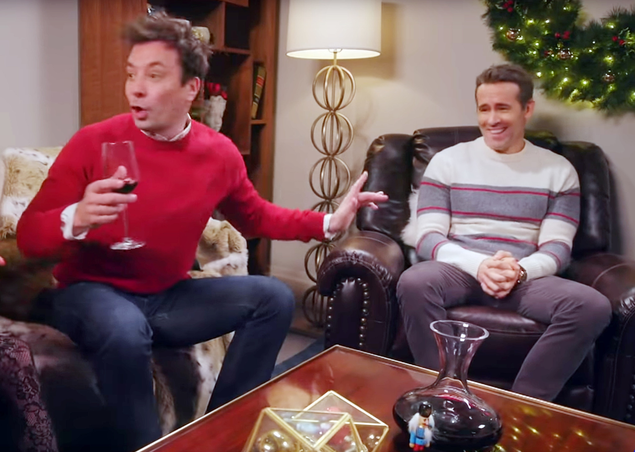 SEE IT: Ryan Reynolds and Jimmy Fallon get together for fake Yankee Candle ad