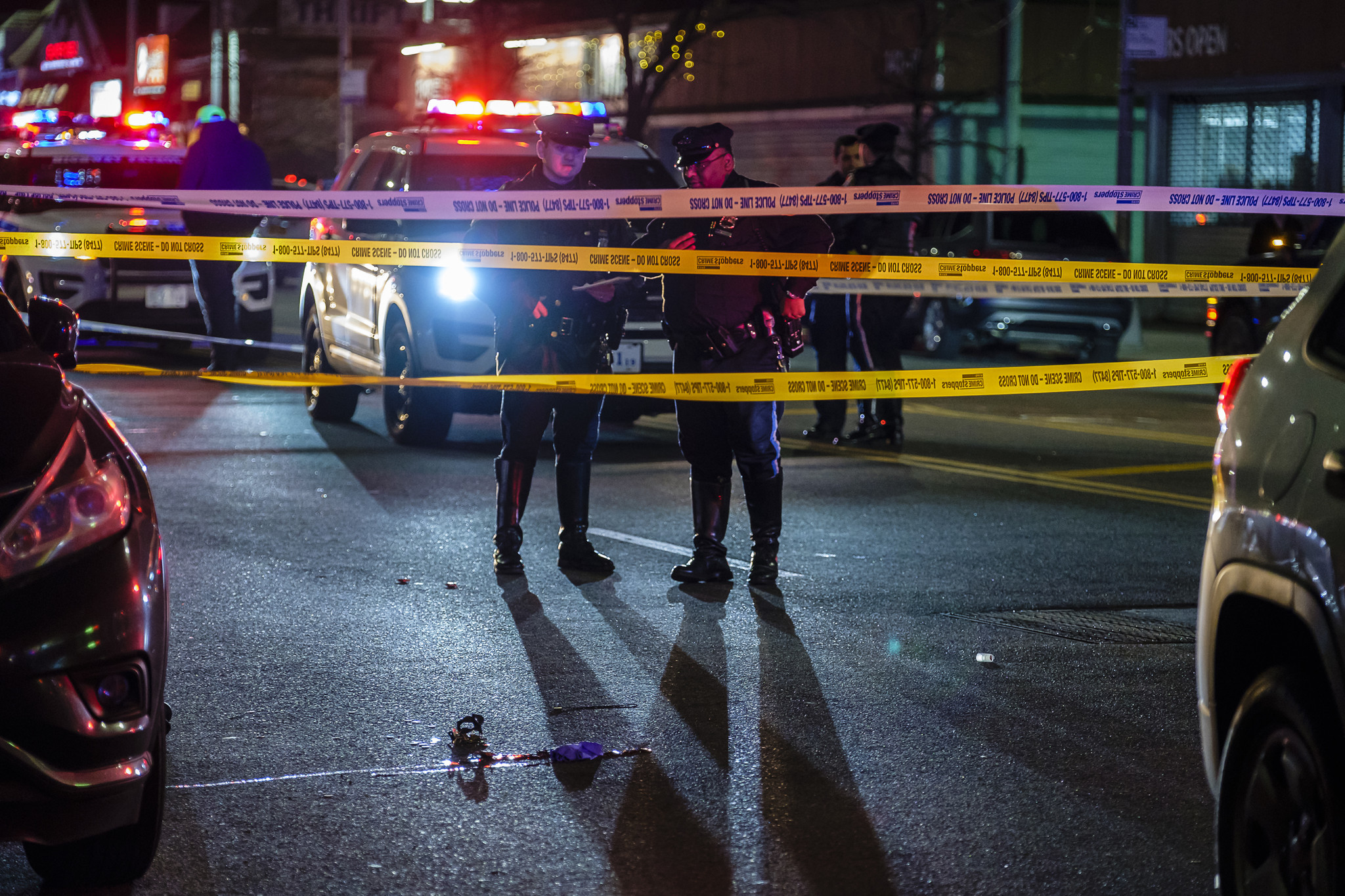 Woman struck crossing Queens street, year's first NYC pedestrian fatality