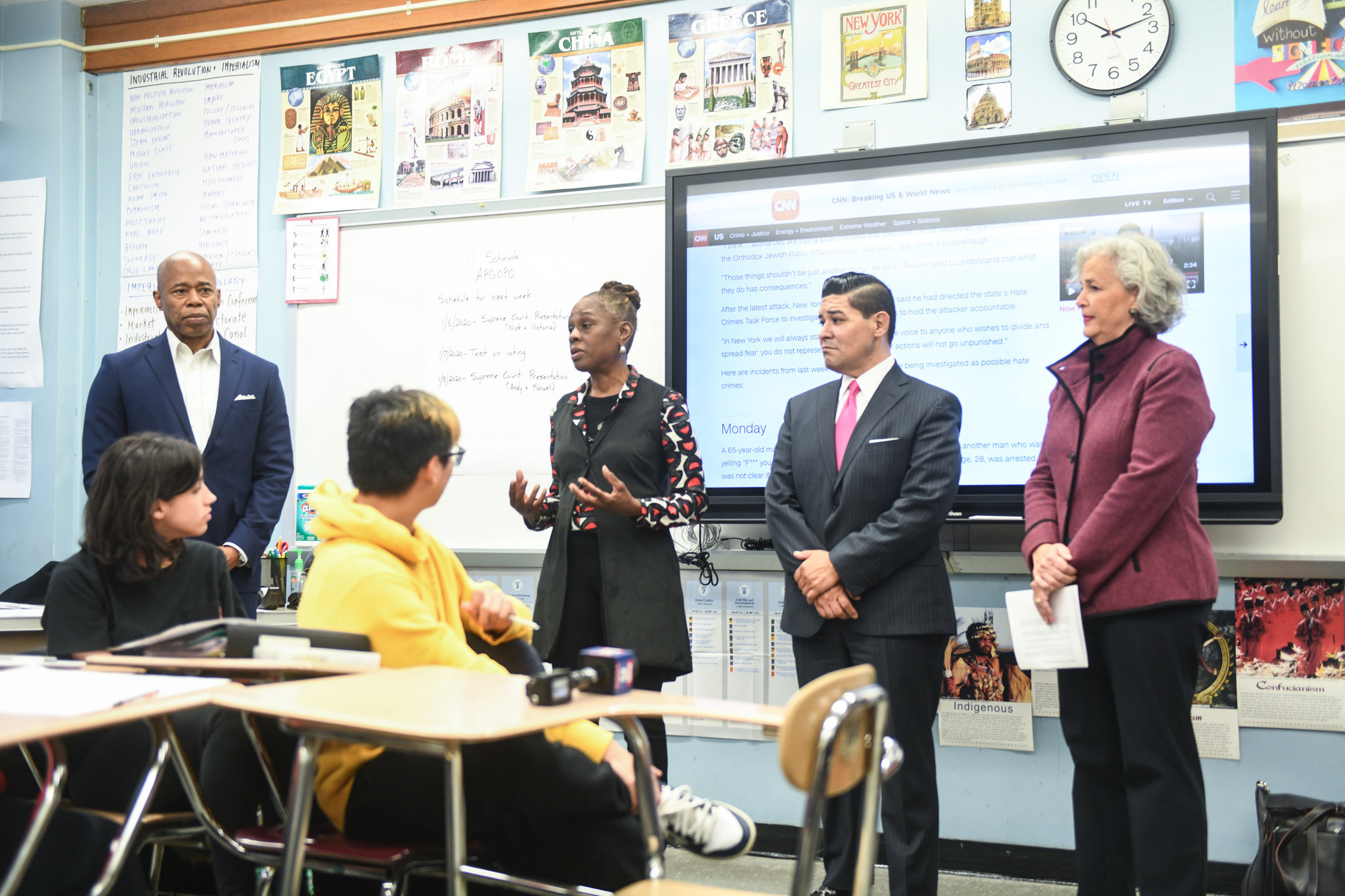 NYC Chancellor, First Lady tout anti-bias education efforts in Brooklyn school visit