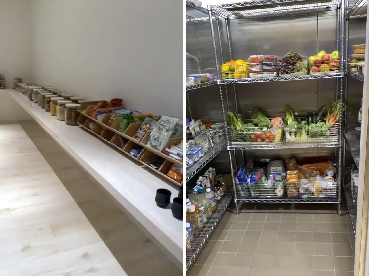 Kim Kardashian shows off walk-in fridge, massive pantry in Instagram video