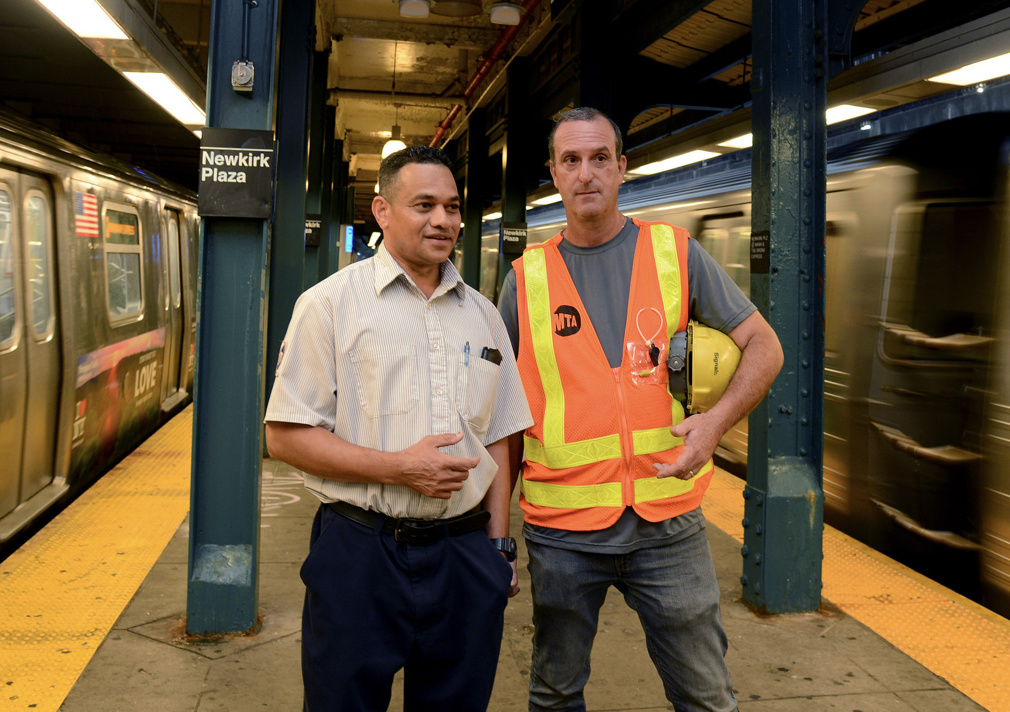 HOMETOWN HEROES: Quick-thinking MTA employees save the life of woman on subway tracks as train was barreling in