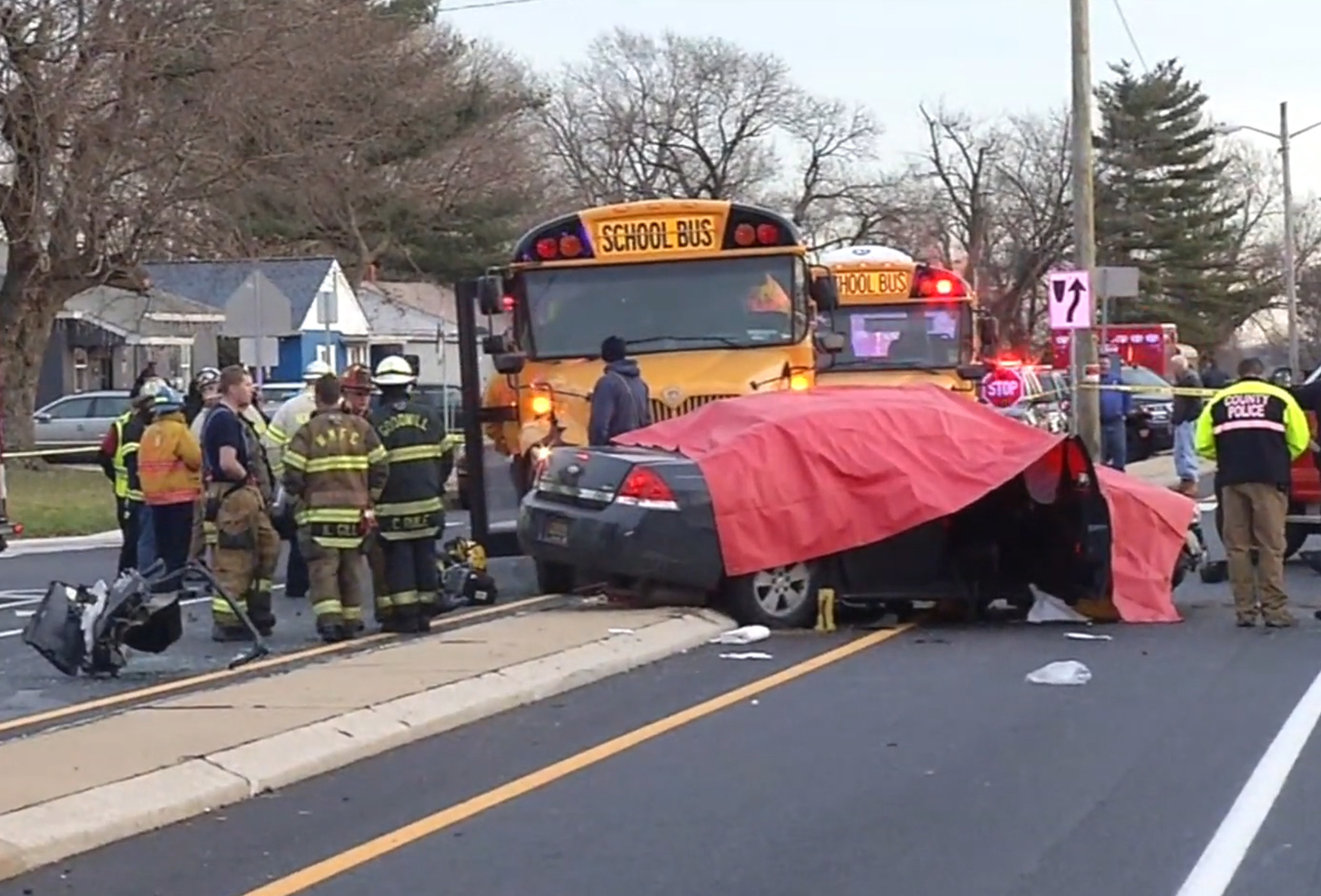 Delaware teen killed in car collision with elementary school bus