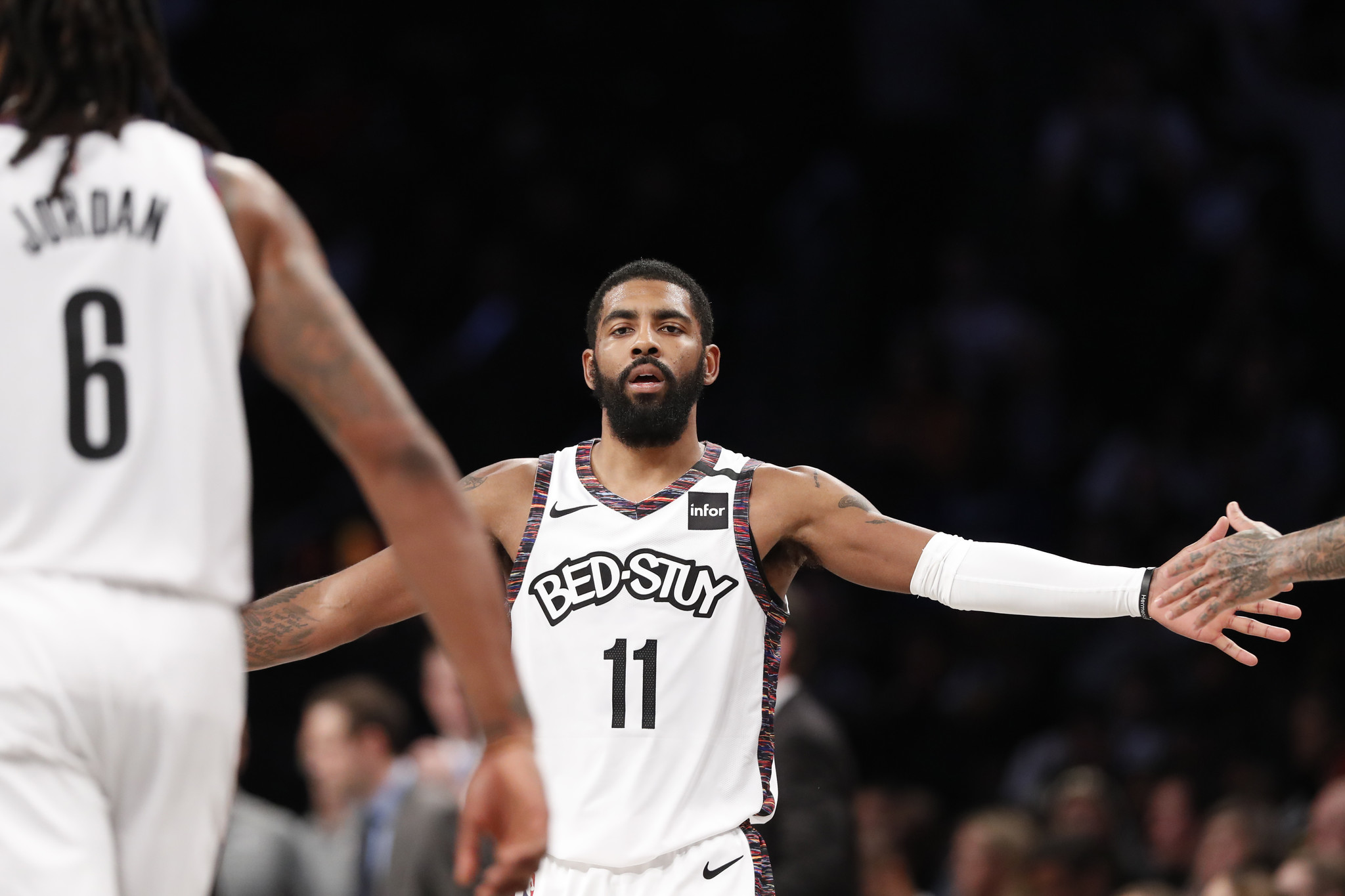 Kyrie Irving returns to score 21 points in 20 minutes as Nets thrash Hawks