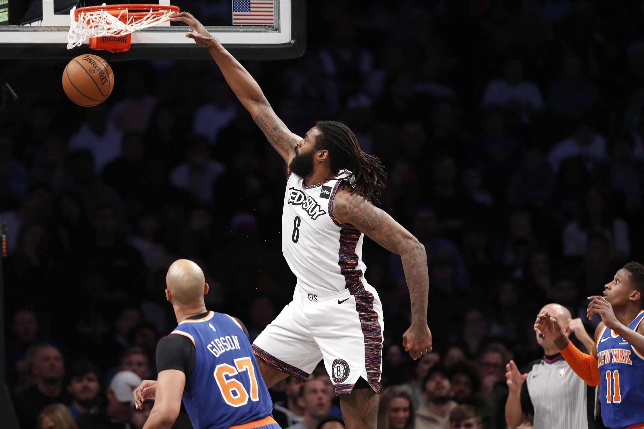 How Spencer Dinwiddie and DeAndre Jordan fixed their broken alley-oops