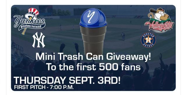 Staten Island Yankees giving away mini trash cans in epic troll job
