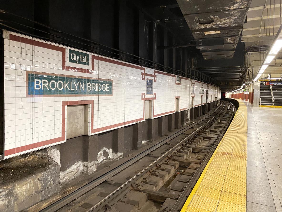 Homeless man accused of scrawling swastika on Manhattan subway poster
