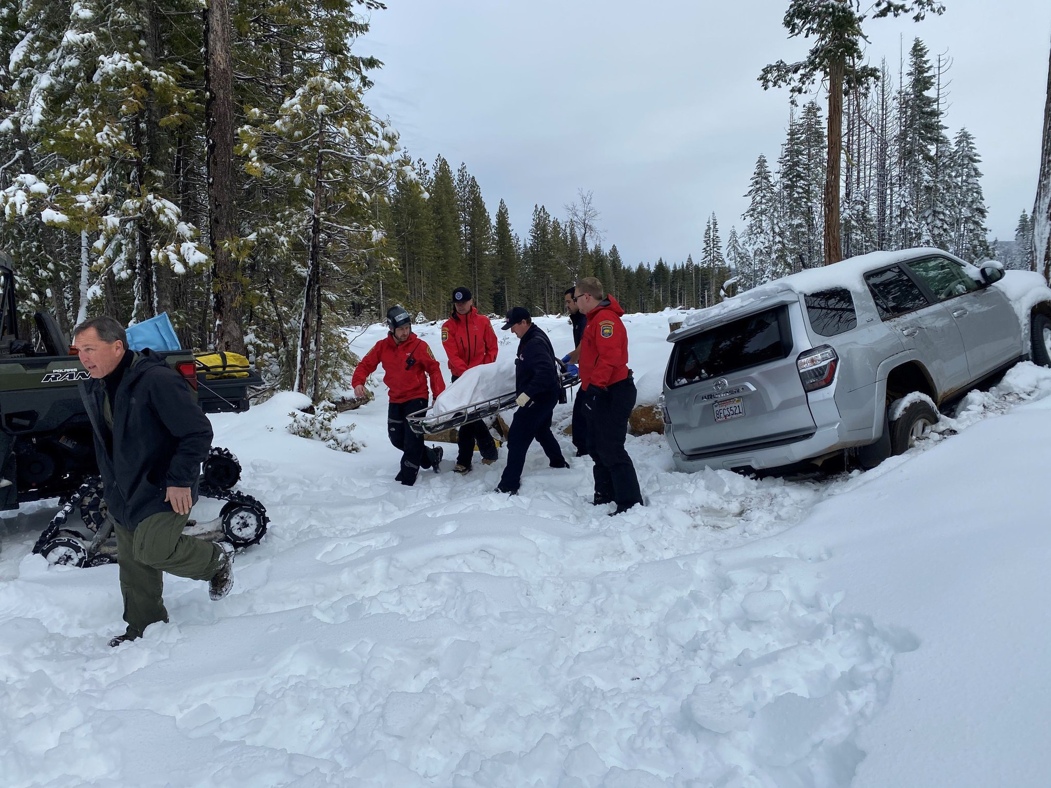 California woman rescued alive after six days stranded in snow-covered car