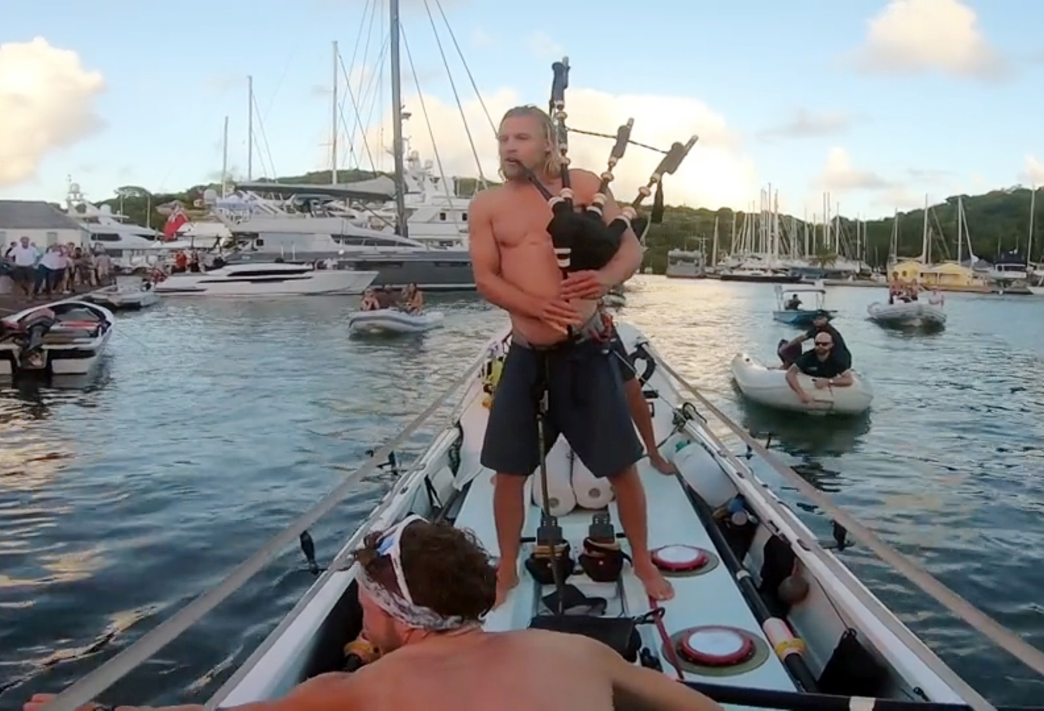 Scottish brothers row across the Atlantic Ocean in record-breaking time