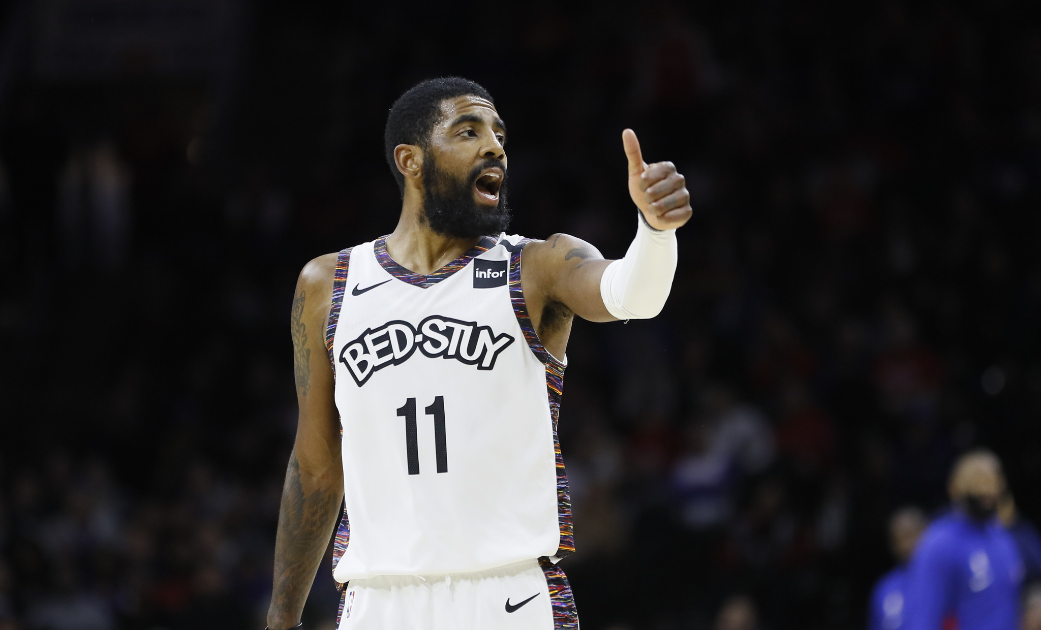 Kyrie Irving defends his leadership: 'If you're not in our locker room, stay the f--- out'